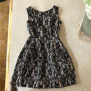 2ea46384 Zara Dresses | Kate Middleton Pink Black Lace Dress Small | Poshmark